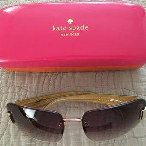 kate spade new york 'nia' rimless sunglasses